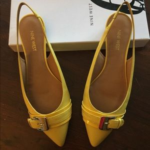 c597cf82c5b Nine West Shoes - NWIB Yellow sling back strap flats by Nine West